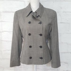 Gucci Houndstooth Double Breasted Blazer Jacket 42
